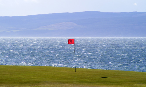8th green at Machrie Bay, Isle of Arran