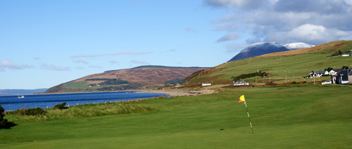 1st hole at Machrie Bay
