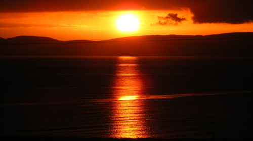 Sunset from the Isle of Arran